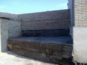 Состояние заднего фасада правой части забора  после завершения строительных работ