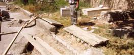 Строительство забора – ограды вдоль главной аллеи на Бухарском Еврейском Кладбище – 08/23/2013 – 09/09/2013 год